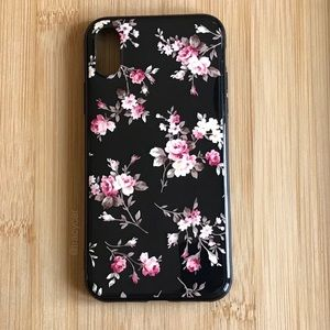 Accessories - NEW Iphone X Glossy Rose Pattern Case